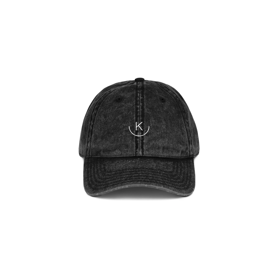 Kuratere Embroidered Vintage Cotton Twill Cap