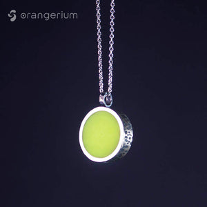 YELLOW - SILVER PENDANT