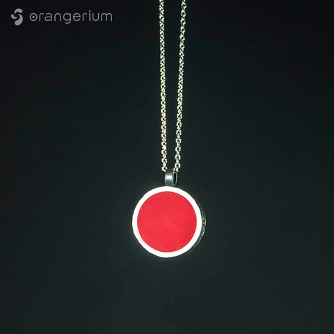 RED - SILVER PENDANT