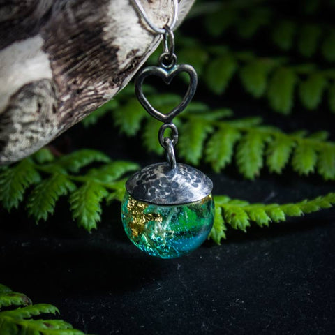 HEART OF OCEAN SILVER PENDANT