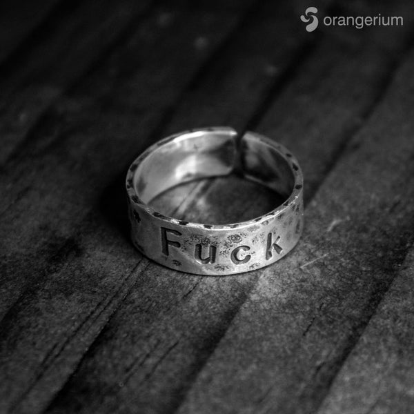 FUCK - ADJUSTABLE SILVER RING