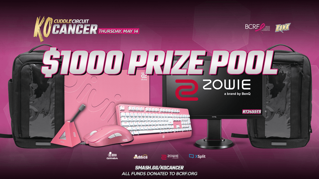 EQNX adds 1000 (USD) to KO Cancer 2020 Prize Pool