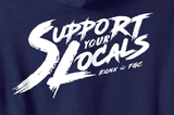 'Support Your Locals' Brush Stroke • Zip-Up Hoodie - EQNX x FGC