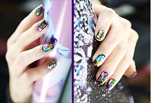 Glitter Glam- Nail Art Stickers