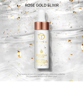 24k Rose Gold Elixir™  - Skin Make Up Oil - Bourga Zone