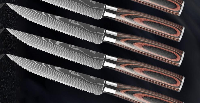 How was Letcase stainless steel serrated steak knives