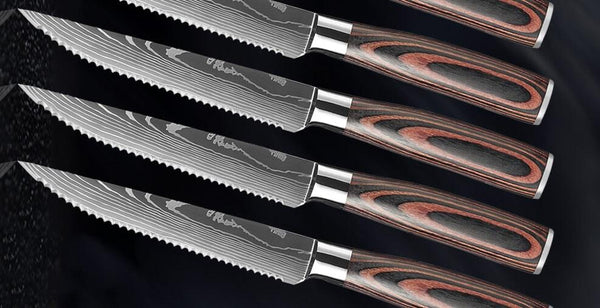How was Letcase stainless steel serrated steak knives | Letcase