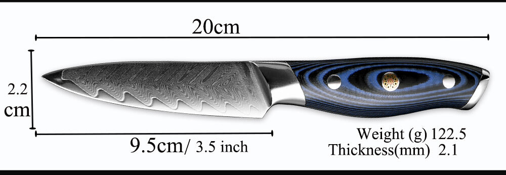 3.5 Inch Damascus Steel Paring Knives