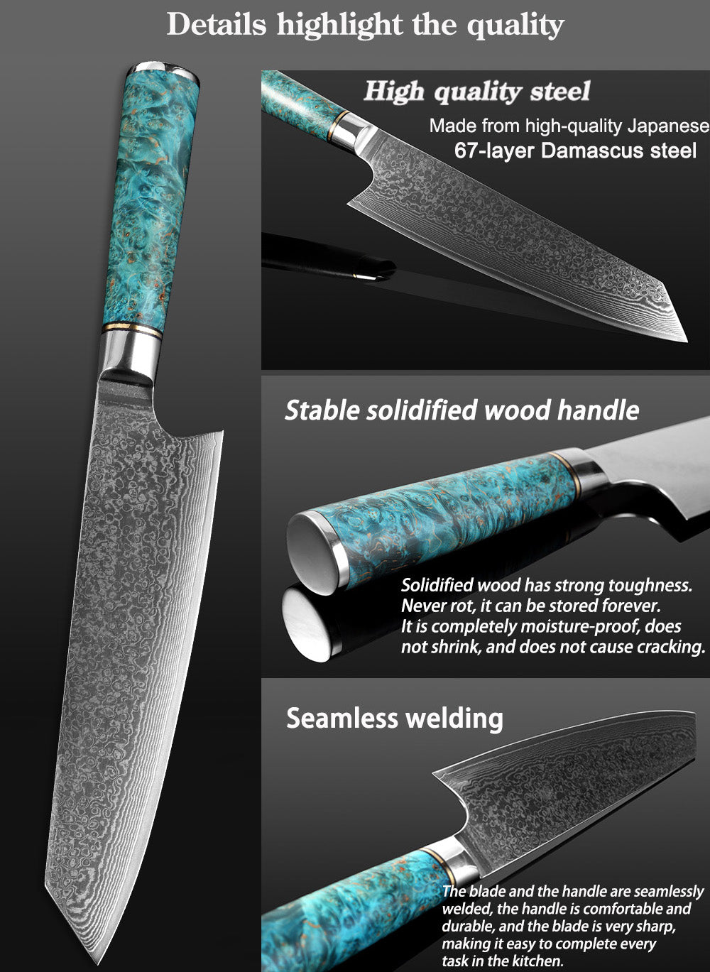 Damascus VG10 Steel 8-inch Chef Knife