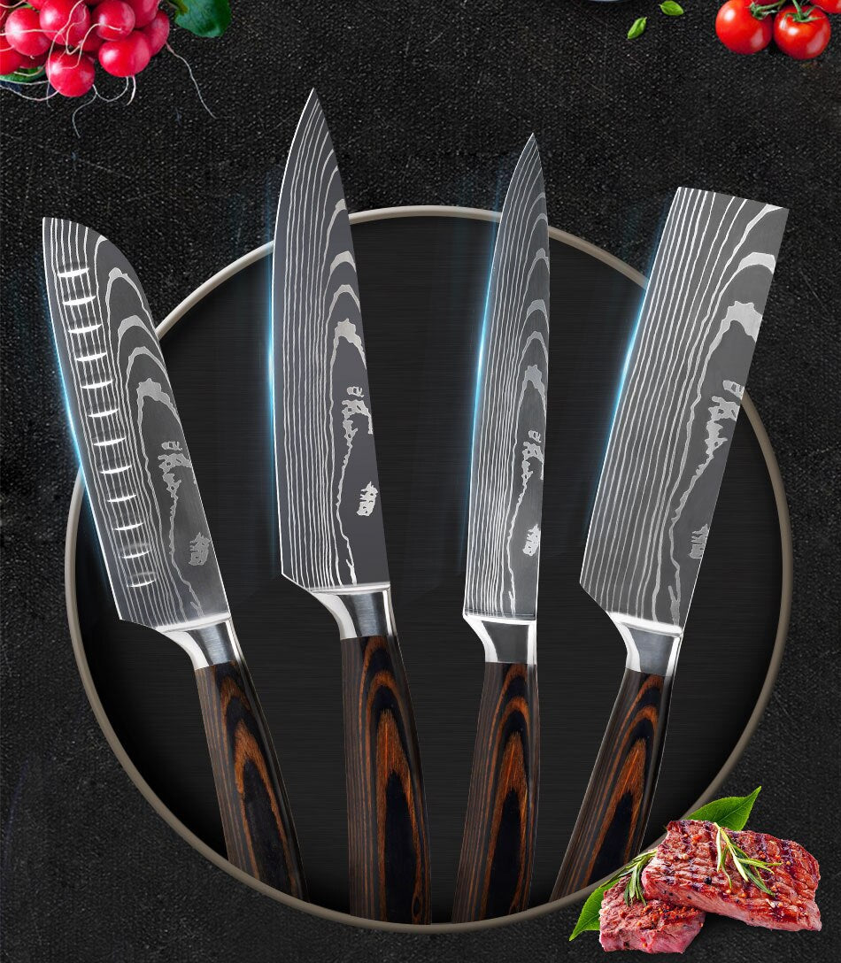 Review for Letcase 9 Pieces Kitchen Knife Set