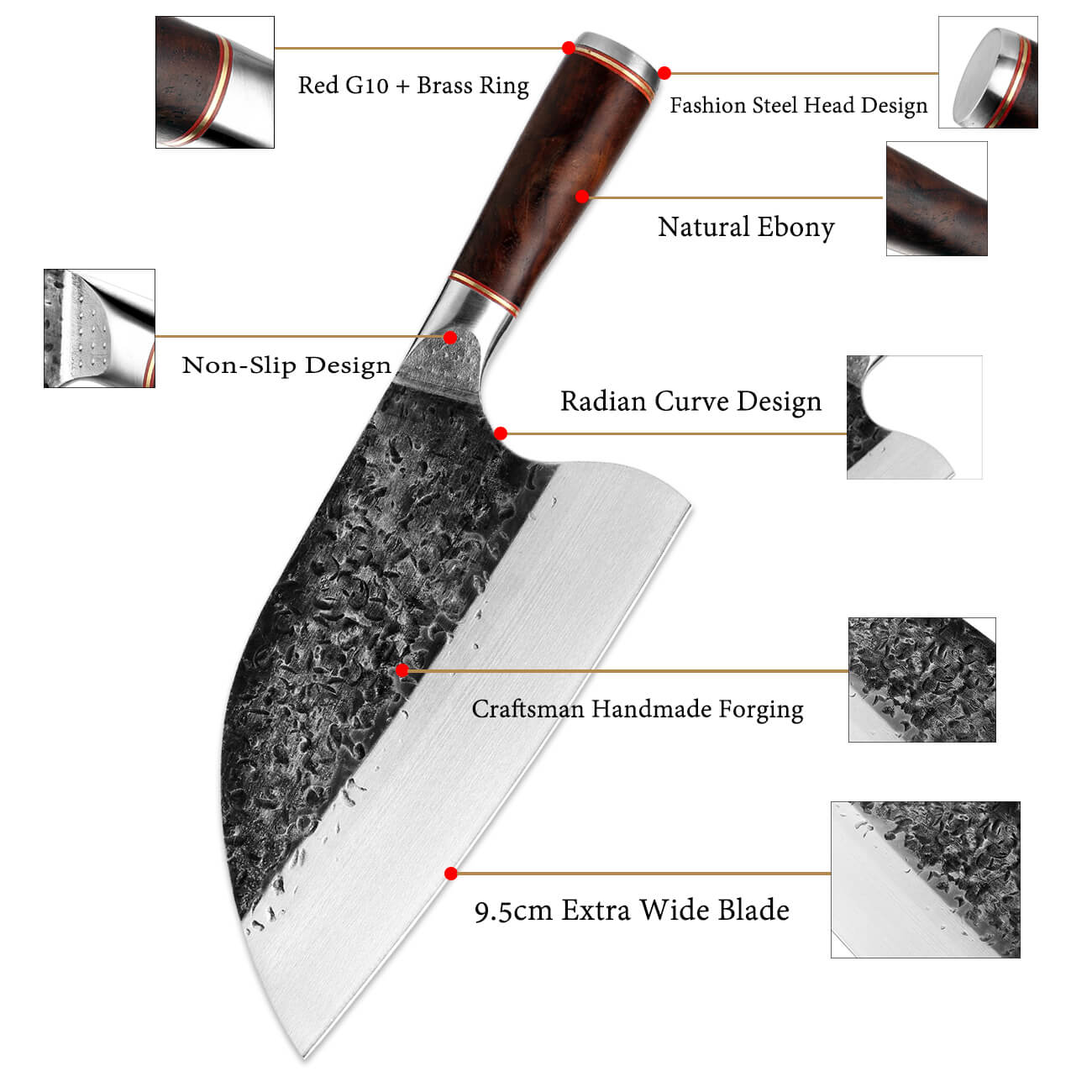 Hand Forged Cleaver Knife Meat Cleaver Knife | Letcase Knives