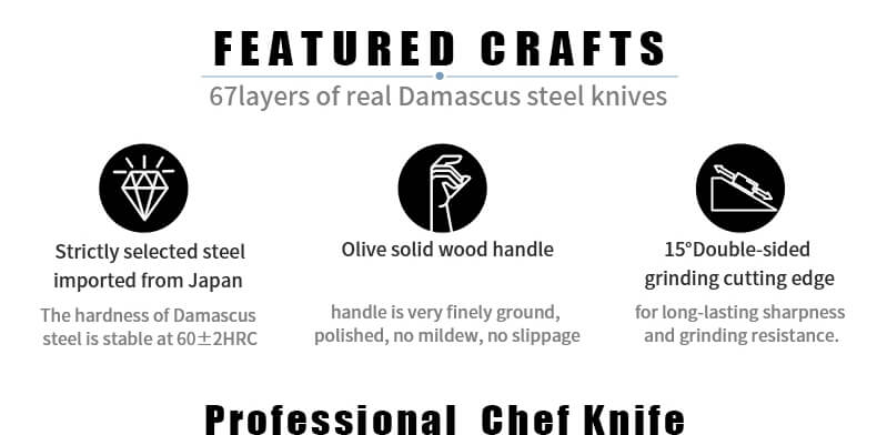 Japanese Chef Knife Set with Roll Bag