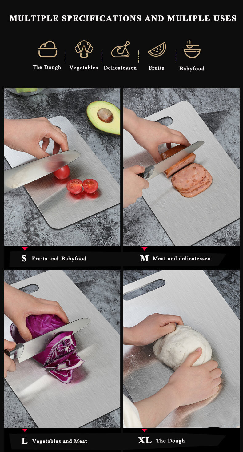 Stainless Steel Cutting Board Large Chopping Board