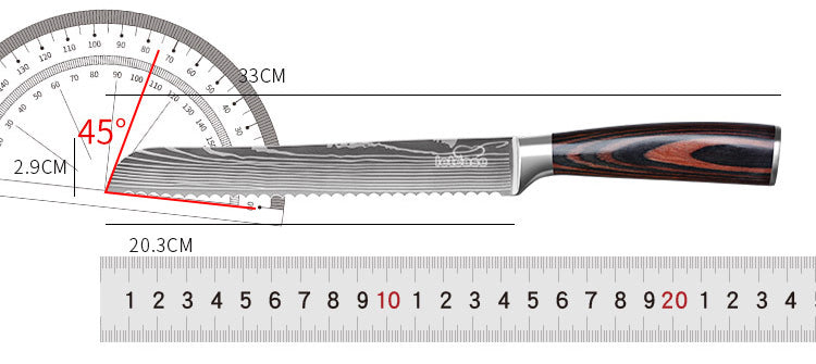Serrated Bread Knives - Size