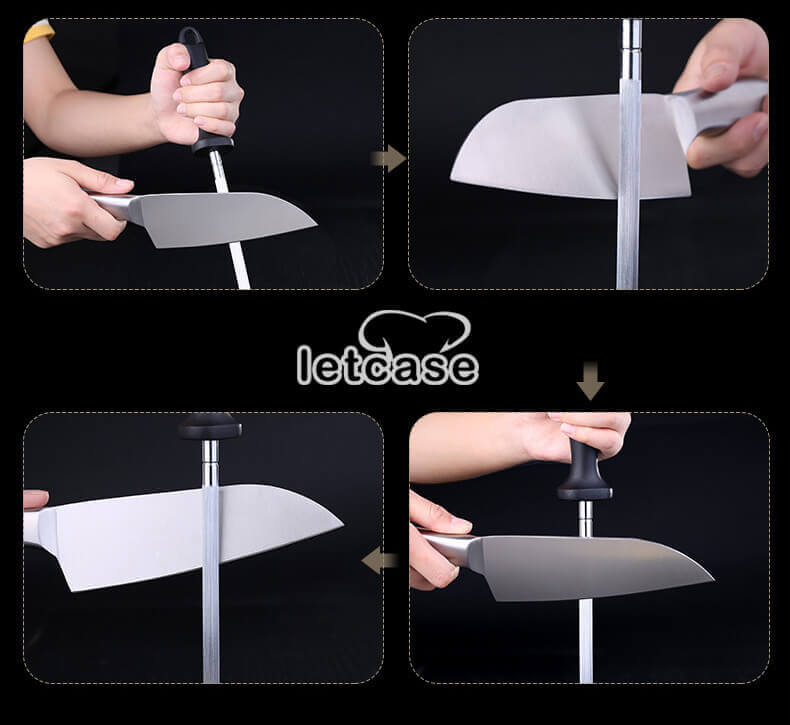 How to use the diamond sharpening rod?