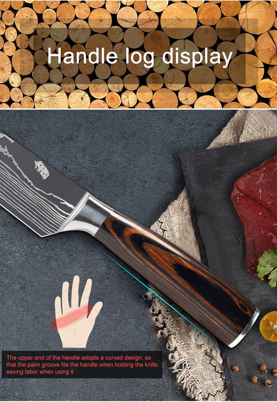 9-PIECE KITCHEN KNIFE SET