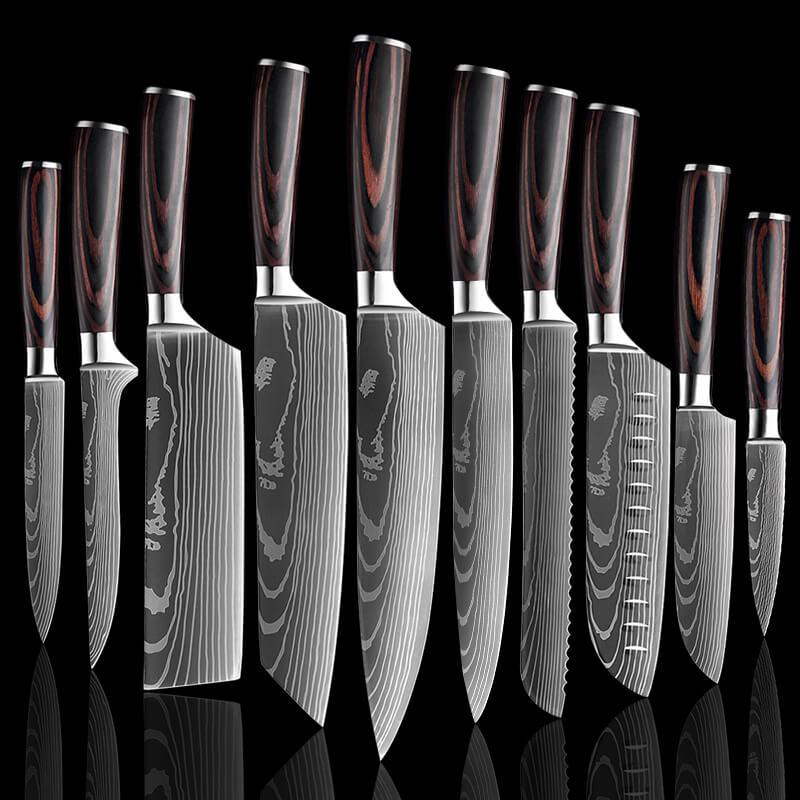 10 Pieces Professional Chef Knife Set - Letcase