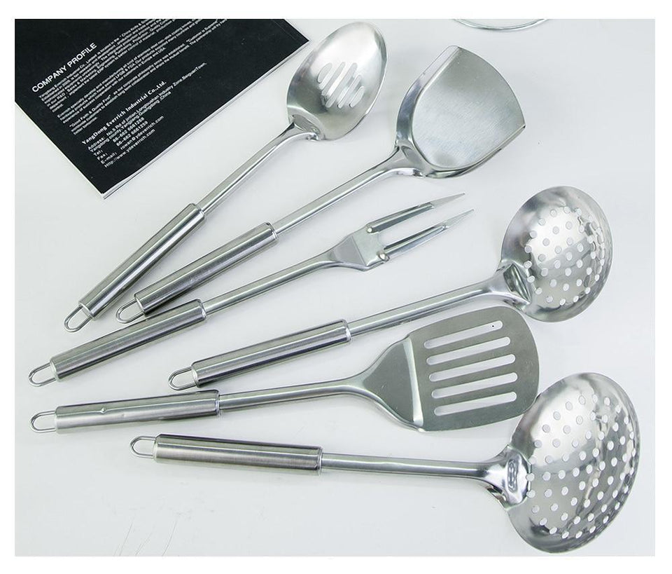 13 Pieces Stainless Steel Cooking Utensils Set - Letcase