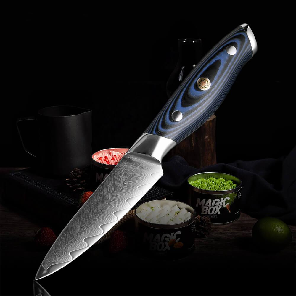 3.5 Inch Damascus Steel Paring Knives - Letcase