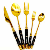 5-Piece Flatware Set Nordic Style Stainless Cutlery Set - Letcase