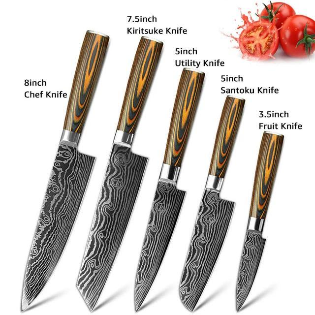 5-Piece High Carbon Steel Knife Set - Letcase