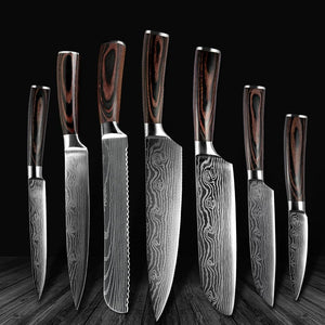 6-piece kitchen knife set, japanese steel chef knife - Letcase