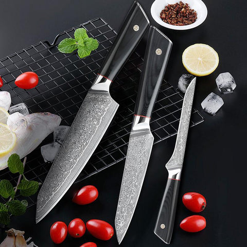 How was Letcase kitchen knives set? - Damascus Steel Knives
