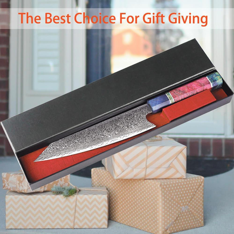 8 Inch 67 Layers Japanese Damascus Chef Knife Gift Giving