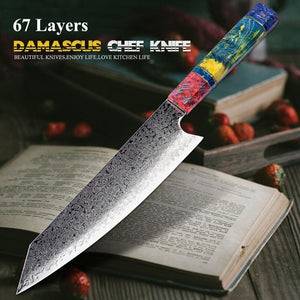 8 Inch 67 Layers Japanese Damascus Chef Kitchen Knives