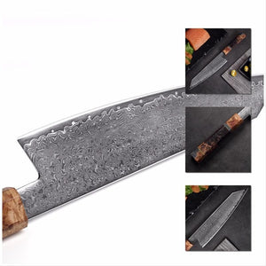 8.2 Inch Handmade Damascus Chef Knife - Letcase