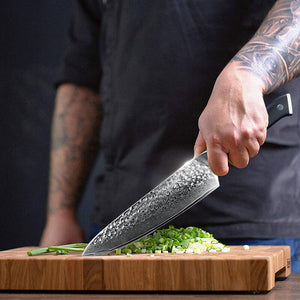 8 inch damascus chef knife | Letcase Knives