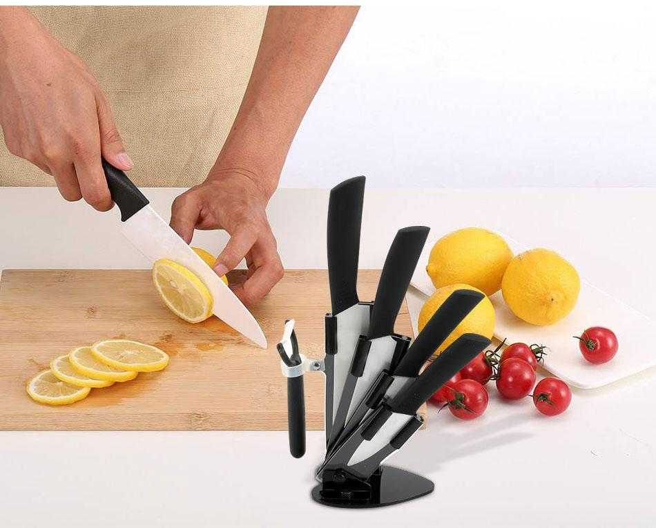 Ceramic Knife Set With Block - Letcase