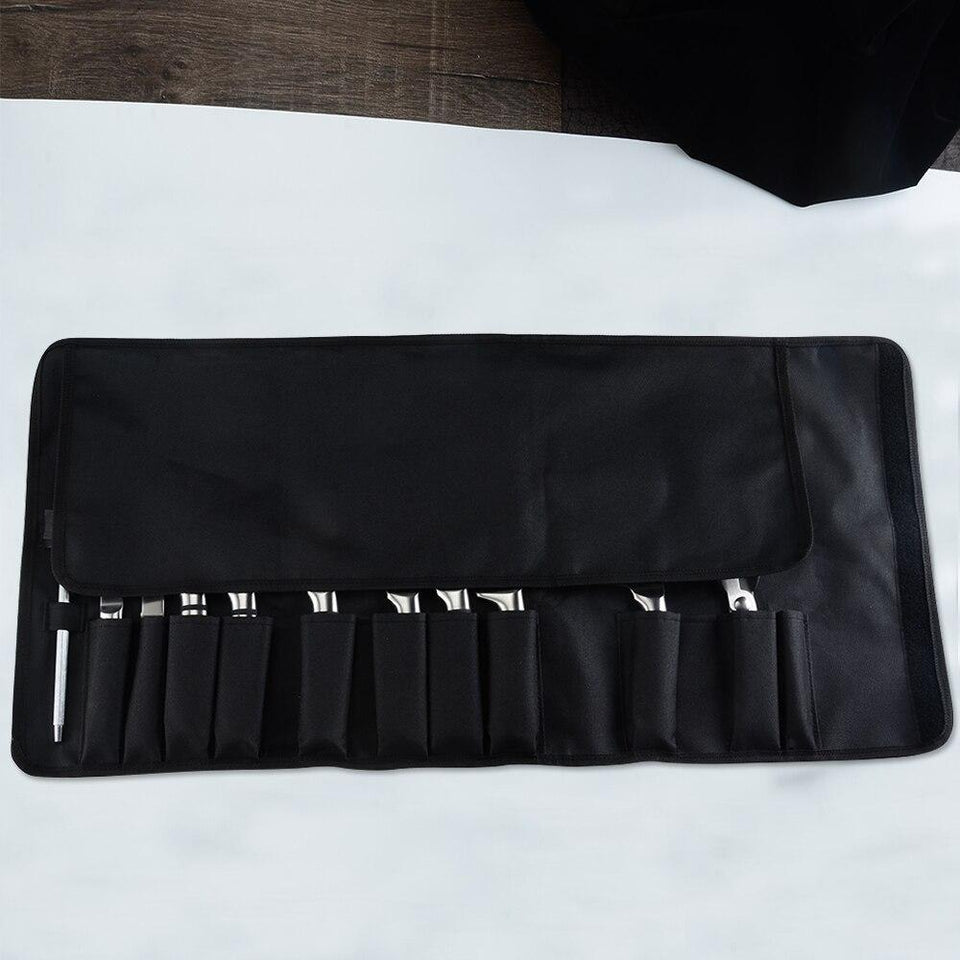 Chef Knife Bag, 12 Pockets Portable Kitchen Knife Roll Bag - Letcase