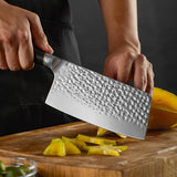 Chinese Meat Cleaver Knife Forged 7 Inch Cleaver Knife - Letcase
