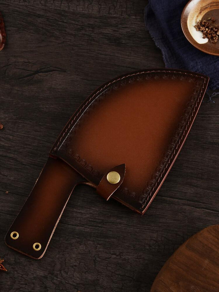 Cleaver Knife Leather Sheath - Letcase