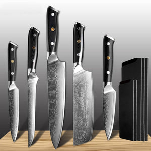 Damascus Steel Kitchen Chef Knife Set - Letcase