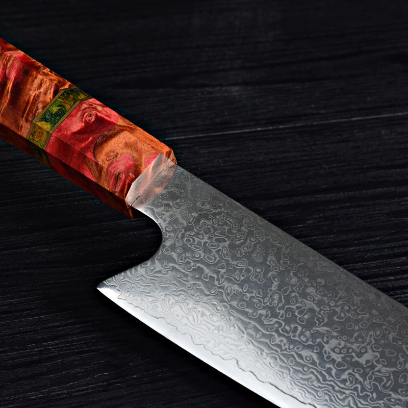 8 Inch 67 Layers Japanese Damascus Chef Knife V-sharped