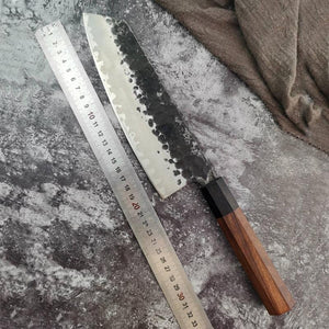 Hand Forged Kitchen Knives 3-layer Composite Steel Kiritsuke Knife - Letcase