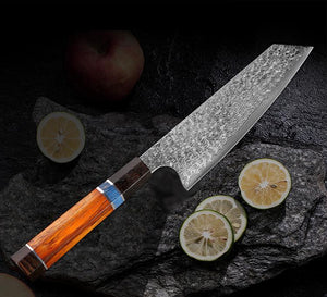 Handmade Damascus Kitchen Knife | Letcase Knives