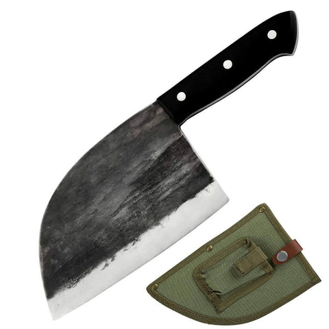 How was Letcase kitchen knives set? - handmade cleaver knife