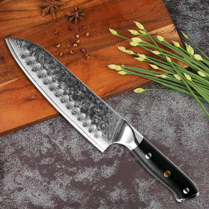 Japanese Damascus Chef Knives - Letcase