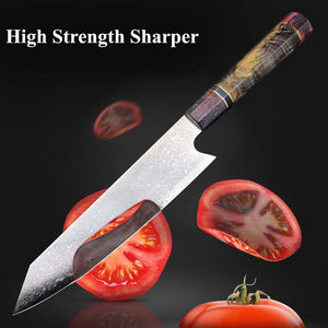 Japanese Damascus Kitchen Knives, 8 Inch VG10 Damascus Steel Chef Knife - Letcase