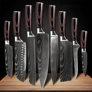Kitchen Knife Set, Japanese Chef Knives - Letcase