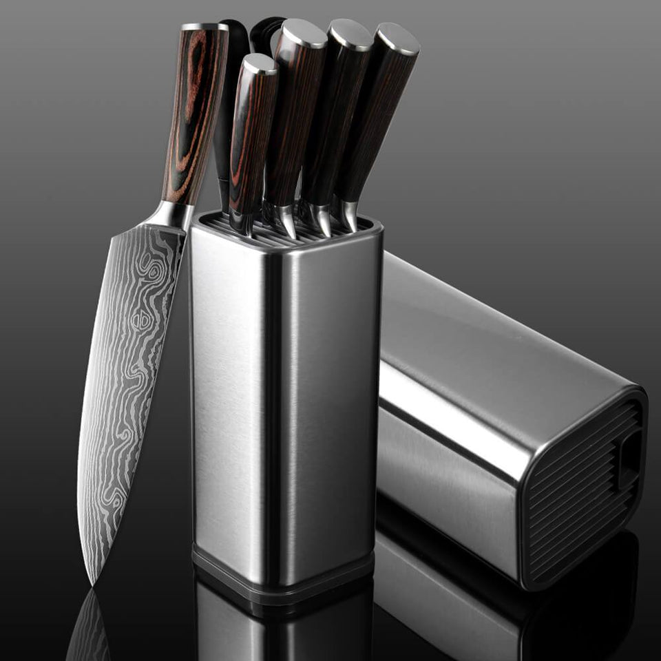 Kitchen Knife Set With Holder - Letcase