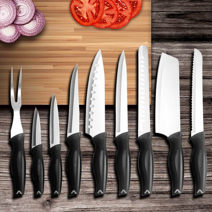 Professional 9 Piece Chef Knife Set With Bag - Letcase