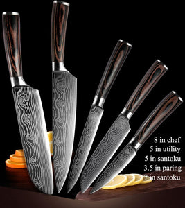Professional Japanese Stainless Steel Kitchen knife set - Letcase