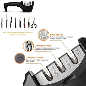 professional kitchen knife sharpener 3 Stages - Letcase