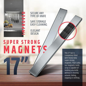 Professional Stainless Steel Magnetic Knife Holder - Letcase