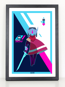 Hyper Light Victory Video Game poster print
