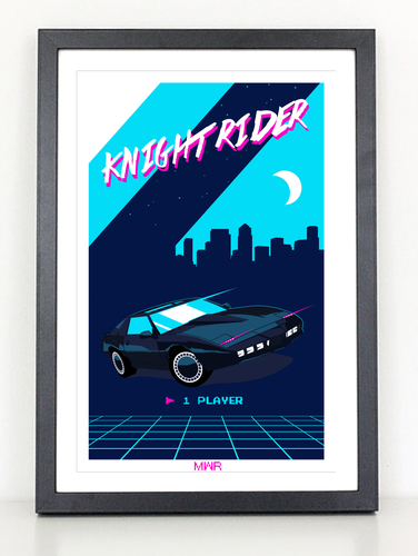 Knight Rider 80s poster print